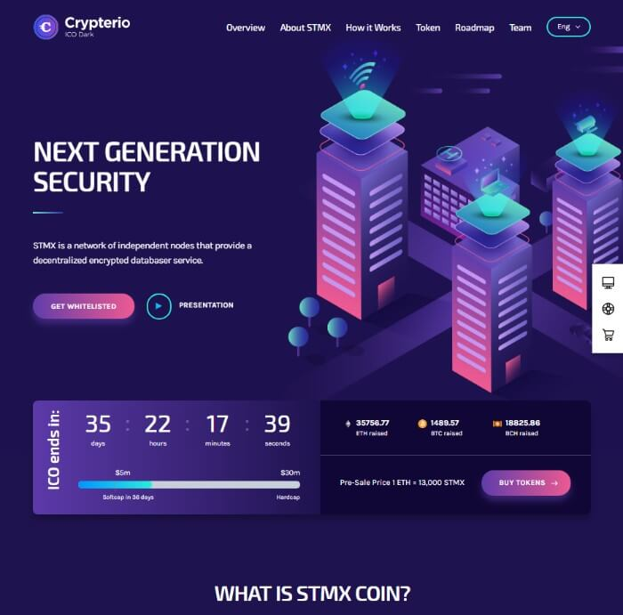 crypterio WordPress theme