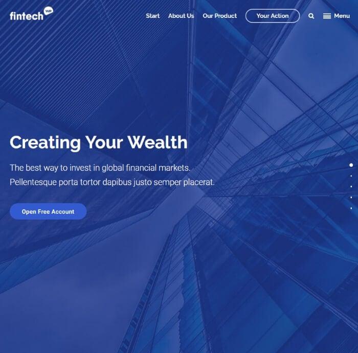 fintech Finance WordPress theme