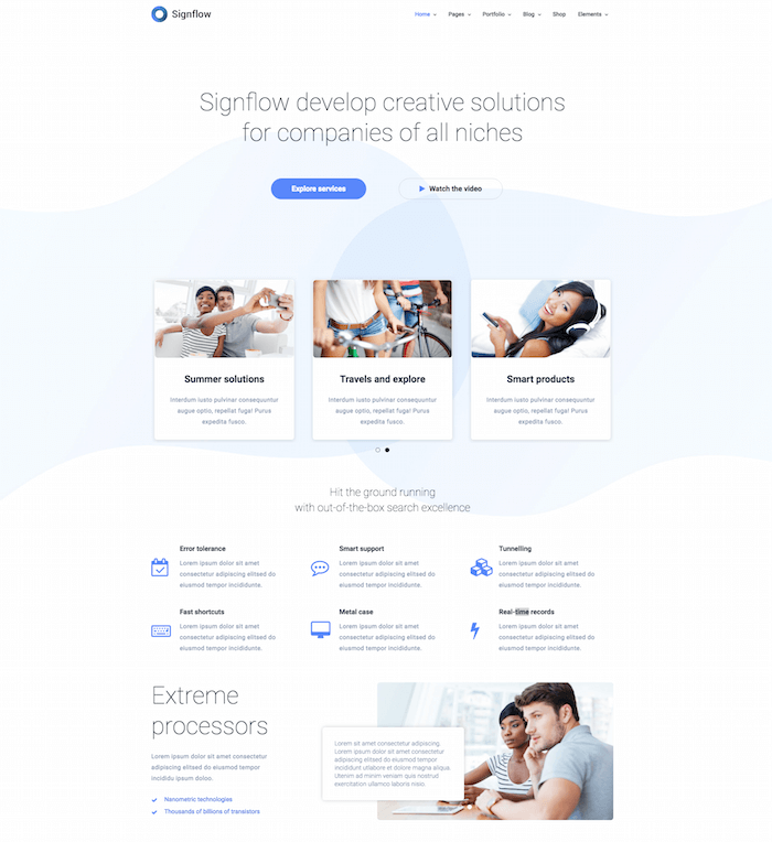 Signflow Startup Theme