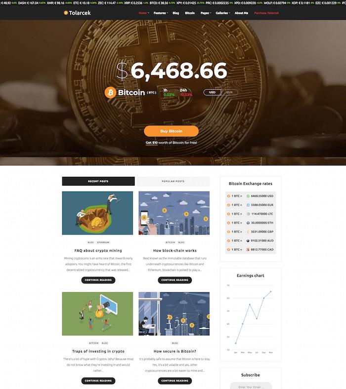 Tolarcek Crypto Theme