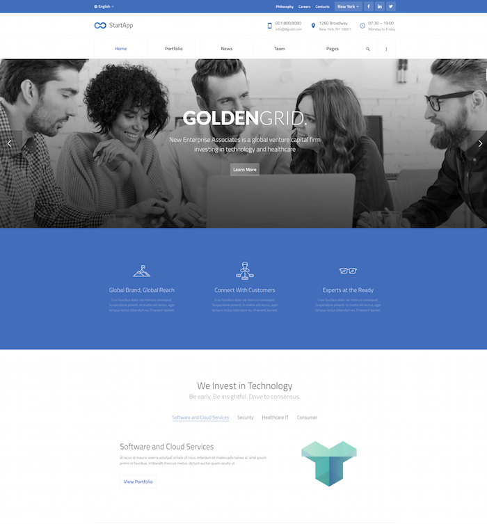 StartApp WordPress Theme
