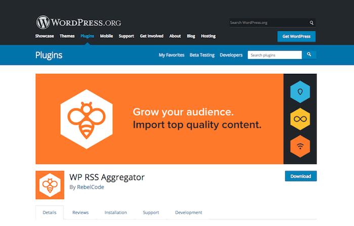 WP RSS Aggregator