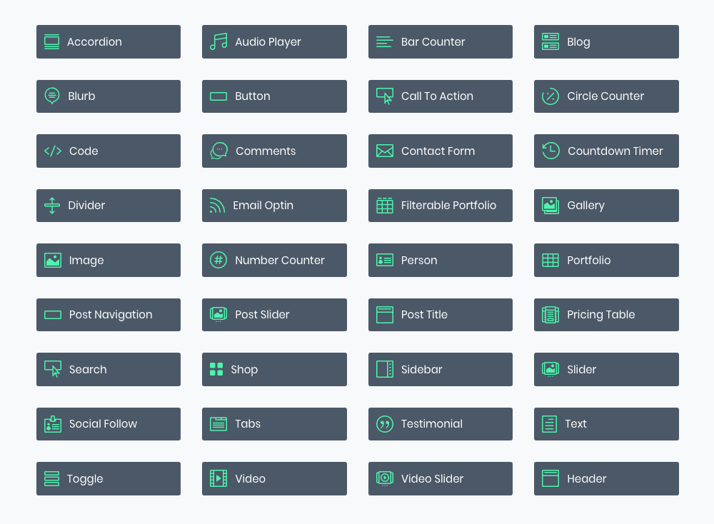 Divi Builder Modules