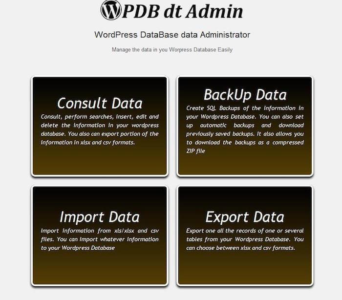 Wordpress-Database-data-Administrator