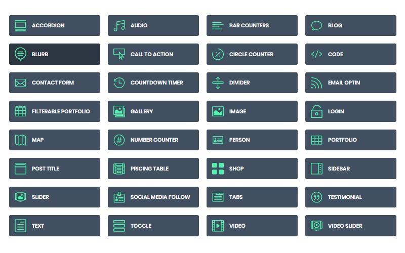 Extra WordPress Theme Divi Modules