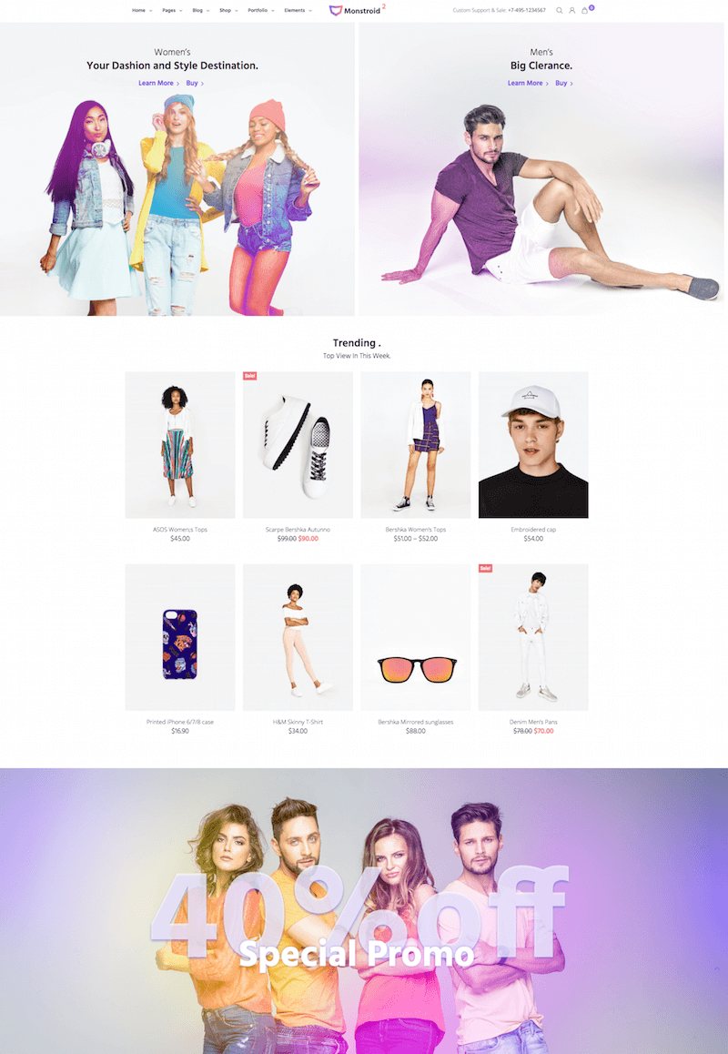 Monstroid 2 Theme WooCommerce